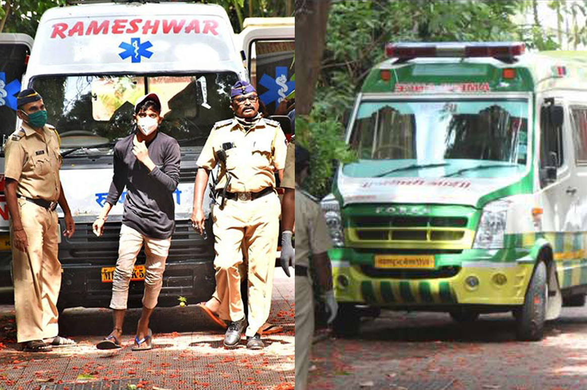 Two ambulance at Sushant singh rajput house